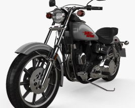 3D model of Harley-Davidson FXS Low Rider 1980