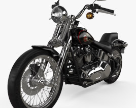 3D model of Harley-Davidson FXSTS Springer Softail 1988