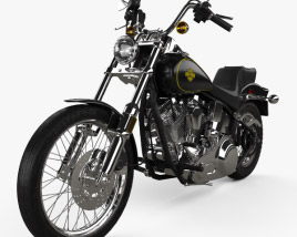 3D model of Harley-Davidson FXST Softail 1984