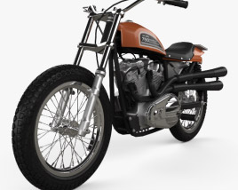 3D model of Harley-Davidson XR 750 1970