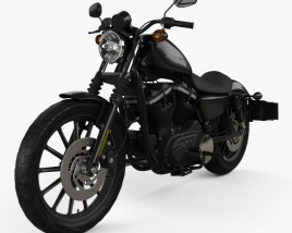 3D model of Harley-Davidson Sportster XL 883N Iron 883 2009