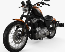 3D model of Harley-Davidson Sportster XL 1200 N Nightster 1986