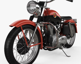 3D model of Harley-Davidson XL Sportster 1957