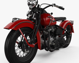 3D model of Harley-Davidson Panhead E F 1948
