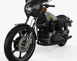 3D model of Harley-Davidson XLCR 1000 Cafe Racer 1977