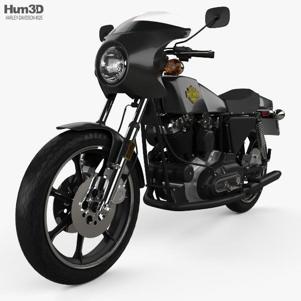 Harley-Davidson XLCR 1000 Cafe Racer 1977 3D model