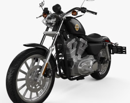 3D model of Harley-Davidson XLH 883 Sportster 2002