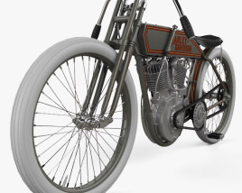 3D model of Harley-Davidson 11 K Racer 1915