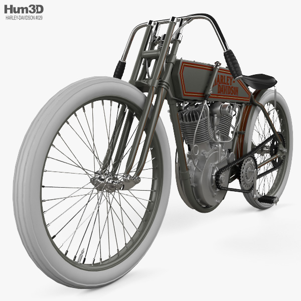 Harley-Davidson 11 K Racer 1915 3D model