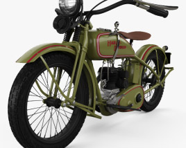 3D model of Harley-Davidson 26B 1926