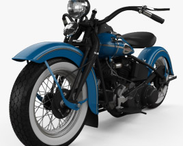 3D model of Harley-Davidson Knuchlehead OHV 1941