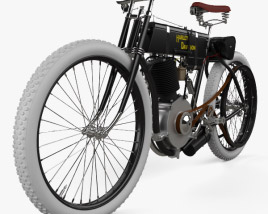 3D model of Harley-Davidson Model 1 1903