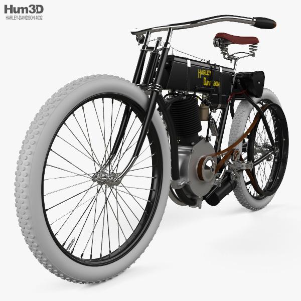 Harley-Davidson Model 1 1903 3D model