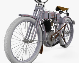 3D model of Harley-Davidson model 2 1906