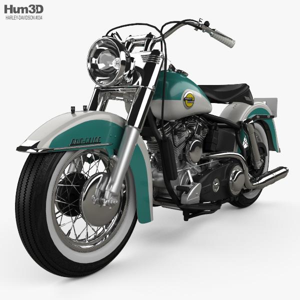 Harley-Davidson Panhead FLH Duo-Glide 1958 3D model