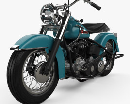 3D model of Harley-Davidson Panhead Hydra-Glide E F 1949