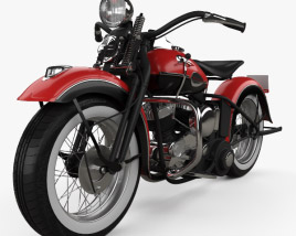 3D model of Harley-Davidson 45 WL 1940