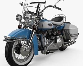 3D model of Harley-Davidson FLH Electra Glide Shovelhead 1966