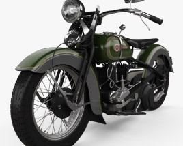 3D model of Harley-Davidson VL JD 1936