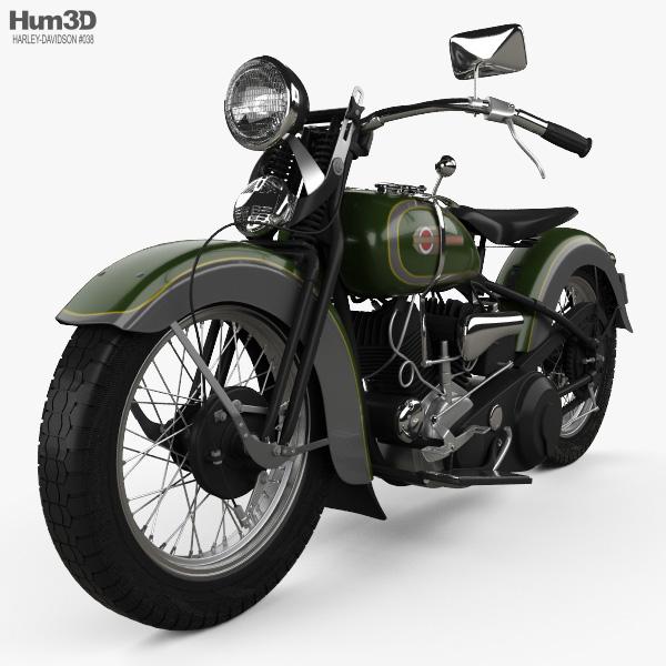 Harley-Davidson VL JD 1936 3D model