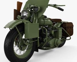 Harley-Davidson WLA 1941 US Army Motorcycle Modèle 3D
