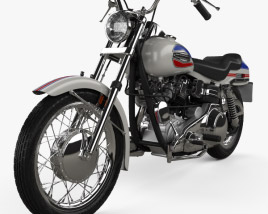 3D model of Harley-Davidson FX Super Glide 1971