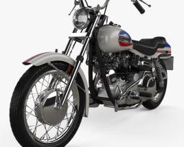 3D model of Harley-Davidson FX Super Glide 1971
