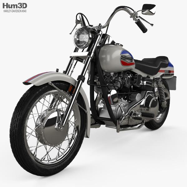 Harley-Davidson FX Super Glide 1971 3D model