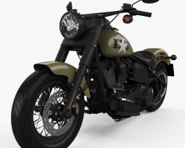 3D model of Harley-Davidson Softail Slim 2016