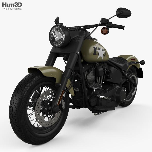 Harley-Davidson Softail Slim 2016 3D model