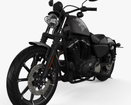 3D model of Harley-Davidson Sportster Iron 883 2016