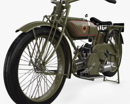 3D model of Harley-Davidson 19W Sport Twin 1919