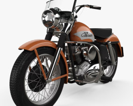 3D model of Harley-Davidson KH Elvis Presley 1956