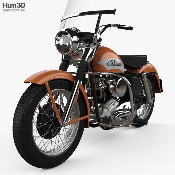 Harley-Davidson KH Elvis Presley 1956 3D model