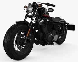 3D model of Harley-Davidson Sportster 1200 Forty-Eight 2013