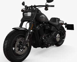 3D model of Harley-Davidson FXFB Fat Bob 114 2018