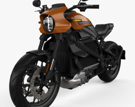 3D model of Harley-Davidson LiveWire 2019