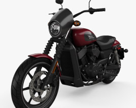 3D model of Harley-Davidson Street 750 2018