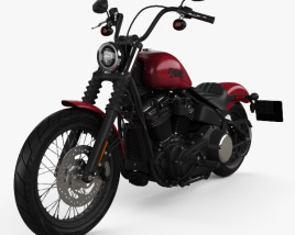 3D model of Harley-Davidson Street Bob 2018