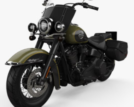 3D model of Harley-Davidson Heritage Classic 2018