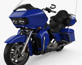 3D model of Harley-Davidson Road Glide Ultra 2018