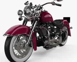 Harley-Davidson Softail Deluxe Custom 2006 Modelo 3D