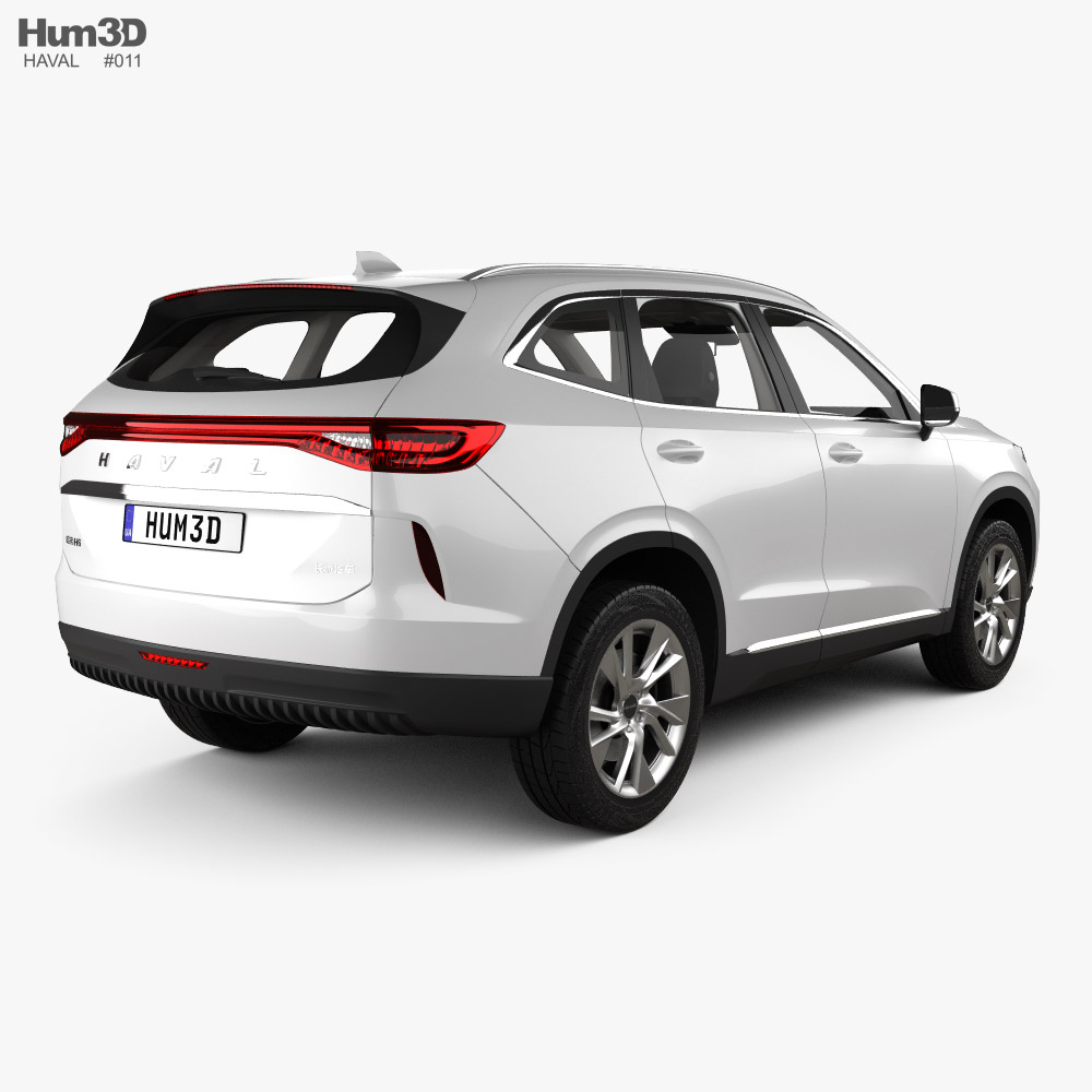 Haval H6 with HQ interior 2021 3d model