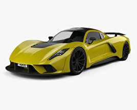 3D model of Hennessey Venom F5 2019