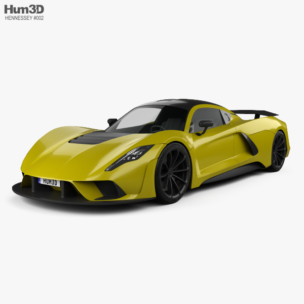 3D model of Hennessey Venom F5 2019