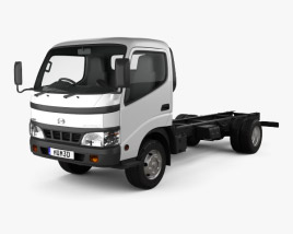 3D model of Hino Dutro Standard Cab Chassis 2010