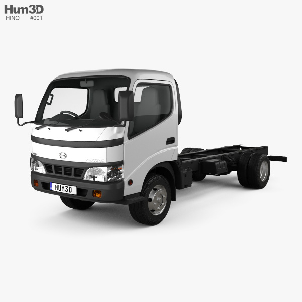 Hino Dutro Standard Cab Chassis 2010 3D model