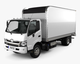 3D model of Hino 195 Hybrid Box Truck 2012
