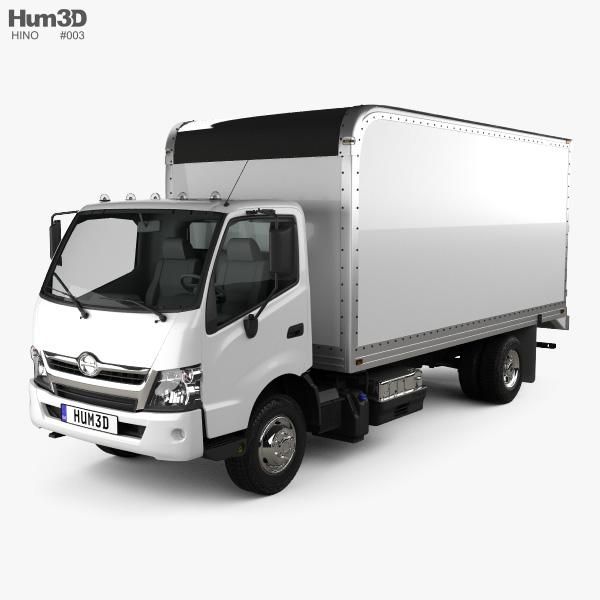 Hino 195 Hybrid Box Truck 2012 3D model
