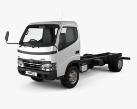 3D model of Hino 300-616 Chassis Truck 2007